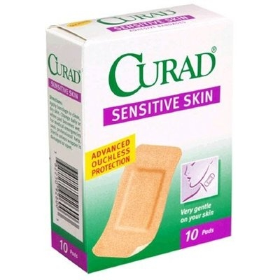 Curad Bandages, Sensitive Skin, 10 pads (Pack of 24)