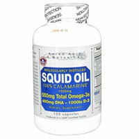 Amino Acid & Botanical Squid Oil with Vitamin D Capsules, 120 Count