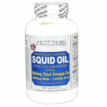 Amino Acid & Botanical Squid Oil with Vitamin D Capsules, 120 Count
