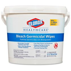 Clorox 30358 Germicidal Wipes- 12 x 12- White- 110/Canister