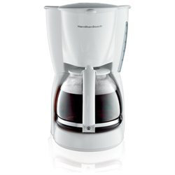 Hamilton Beach 12 Cup Coffeemaker in White