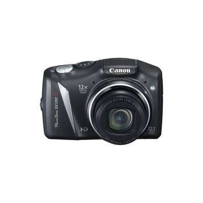 Canon PowerShot SX130 IS 12.1MP Compact Digital Camera - Black4345B001