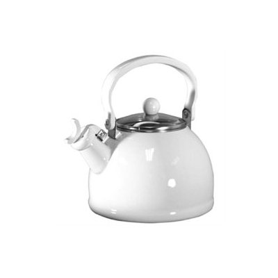 Reston Lloyd 2.5 qt. Whistling Tea Kettle White