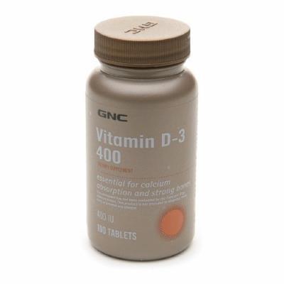 GNC Vitamin D-3 400 IU 100 Tablets