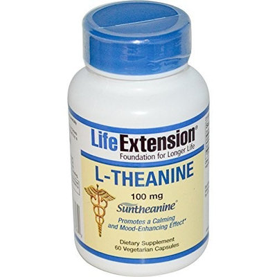 Life Extension L-theanine 100mg Capsules, 60-Count