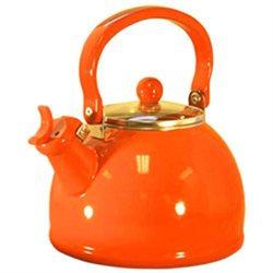Reston Lloyd 60500 Orange - Whistling Tea Kettle with Glass Lid
