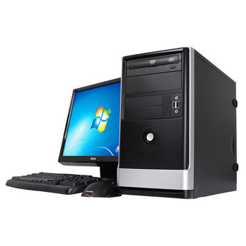 Sitoa Corp Entry Level Desktop: Intel Pentium G3240 3.1Ghz, 4GB, 500GB, DVDRW, Windows 7 Home Premium, with Keyboard and Mouse, 19