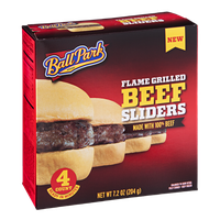 Ball Park Beef Sliders Flame Grilled - 4 CT