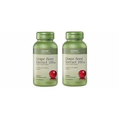 GNC Herbal Plus® Standardized Grape Seed Extract 100 mg 100 cap (2 Bottles)