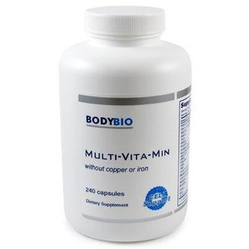 BodyBio , Multi-Vita-Min , w/o Copper or Iron , 240 Capsules