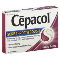 Cepacol Sore Throat & Cough Oral Pain Reliever/Cough Suppressant
