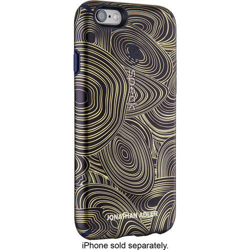 Speck - Jonathan Adler CandyShell Inked Case for Apple® iPhone® 6 Plus - Malachite Black Gold/Berry Black Purple