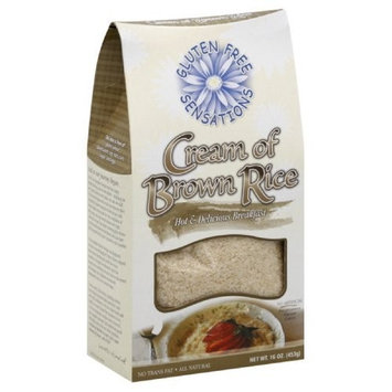 Gluten Free Sensations Cream of Brown Rice, 16-Ounce (Pack of 6)
