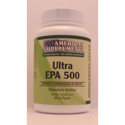 Ultra EPA 500 No Chinese Ingredients American Supplements 60 Softgel