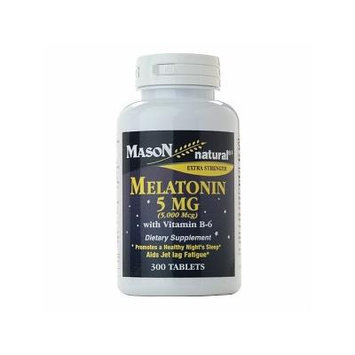 Mason Natural Melatonin 5 mg with Vitamin B-6, Tablets 300 ea
