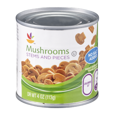 Ahold Mushrooms Stems and Pieces No Salt Added