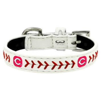 GameWear Cleveland Indians Classic Leather Large Baseball Collar