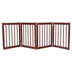 Dynamic Accents Large Four Panel EZ Pet Gate Mahogany (42223)