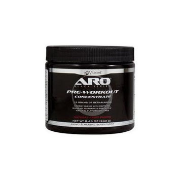 ARO-Vitacost Black Series Pre-Workout Concentrate Natural Fruit Punch -- 8.45 oz (240 g)