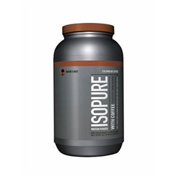 Isopure With Coffee Protein Powder, Colombian Coffee, 3 Pounds