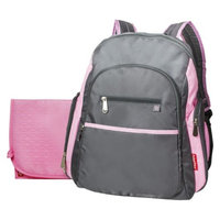 Fisher-Price Ripstop Diaper Bag Backpack - Grey/Pink
