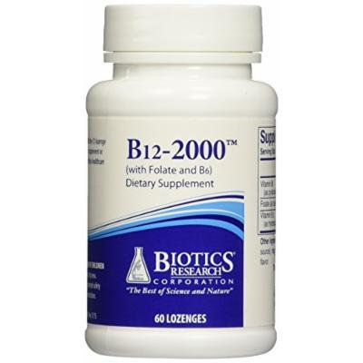 Biotics Research - B12-2000 with Folic Acid and B6 - 60 Lozenges