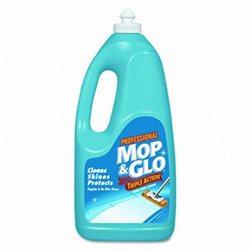 MOP & GLO Triple Action Floor Cleaner, 64 oz, 6/Carton