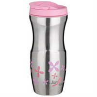 Trudeau 16 Oz Pink Stainless Steel Lulu Travel Tumbler