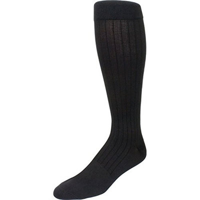 Sigvaris Business Casual 189CB12 15-20mmHg Mens Business Casual Closed Toe Socks - Charcoal Size B