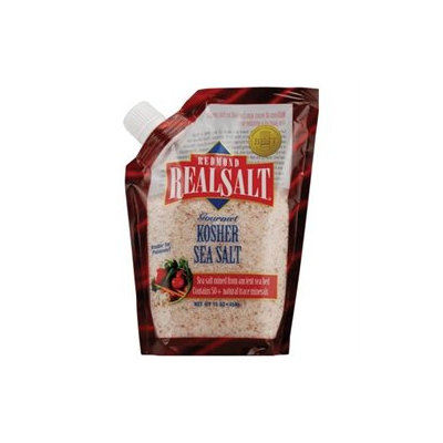 Real Salt Sea Salt Pouch, Kosher, 16 oz