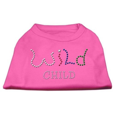 Mirage Pet Products 5283 XLBPK Wild Child Rhinestone Shirts Bright Pink XL 16