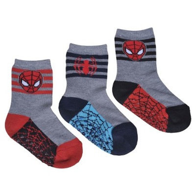 License Spider-Man Toddler Boys' 3-Pack Crew Sock - Grey