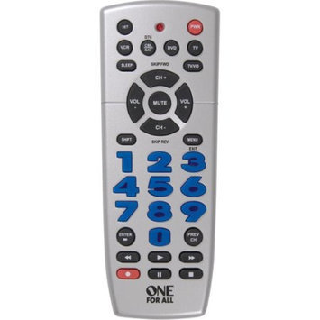 One For All CURC4110 UNIVERSAL REMOTE 4 DEVICE BIG BUTTON