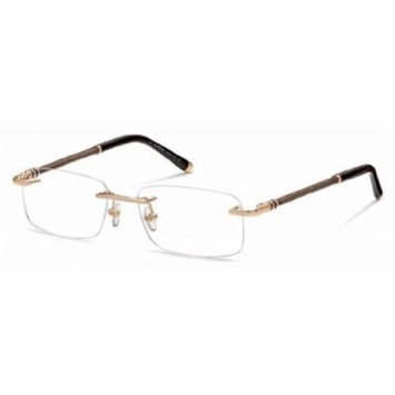 MontBlanc Men's MB0391 Rimless Metal Frames GOLD 55