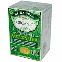 St. Dalfour St Dalfour Organic Green Tea Spring Mint 25 Tea Bags Case of 6
