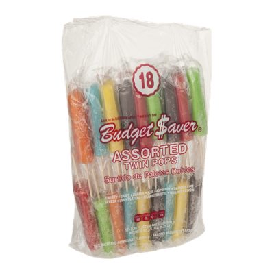 Budget Saver Assorted Twin Pops - 18 CT