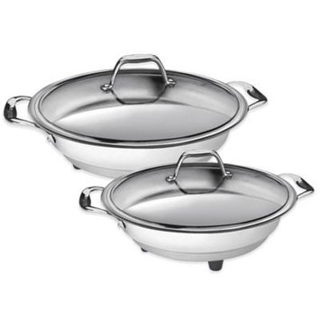 Chefs Cucina Pro 1454 Classic Electric Skillet - 16 - Polished Interior