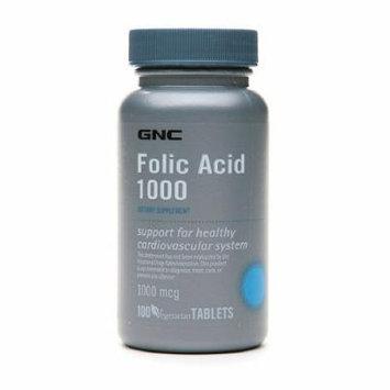 GNC Folic Acid 1000, Vegetarian Tablets 100 ea