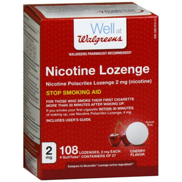 Walgreens Nicotine Lozenges 2mg, Cherry, 108 ea