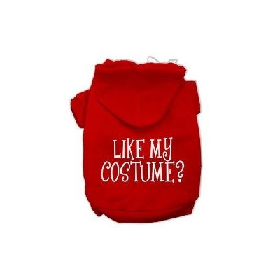 Mirage Pet Products Like my costume? Screen Print Pet Hoodies Red Size XS (8)