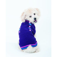 ETHICAL PRODUCTS   SWEATERS Fashion Pet Lookin Good Co-Ed Heart Sweater for Dogs, XX-Small, Purple