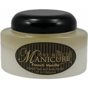 One Minute Manicure Hand, Foot & Body Moisturizing Scrub - 13 Oz Jar (French Vanilla)