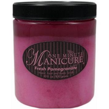 One Minute Manicure Hand, Foot & Body Moisturizing Scrub - 30 Oz (Fresh Pomegranate)