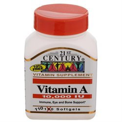 21st Century Healthcare Vitamin A 10,000 IU 110 Softgels, 21st Century Health Care