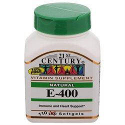 21st Century Healthcare Vitamin E 400 IU D-Alpha Natural 110 Softgels, 21st Century Health Care