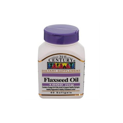 21st Century Healthcare Flaxseed Oil 1000 mg 60 Softgels, 21st Century Health Care