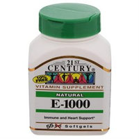21st Century Healthcare Vitamin E 1000 IU D-Alpha Natural 55 Softgels, 21st Century Health Care