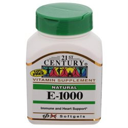 21st Century Healthcare Vitamin E 1000 IU D-Alpha Natural 55 Softgels, 21st Century Health Care
