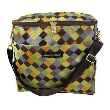 Kohls Jessica Bishop Checkerboard Messenger Diaper Bag (Brown)
