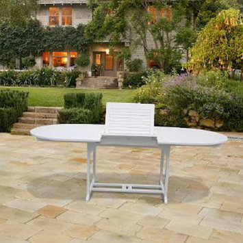 VIFAH Butterfly Outdoor Extension Dining Table, 1 ea